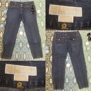 Michael Kors size 8 ankle zip jeans
